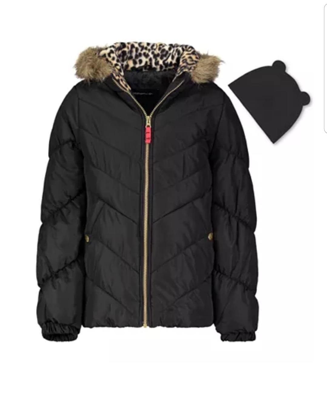 Girls Hooded Puffer Coats $17.59; NOT $85