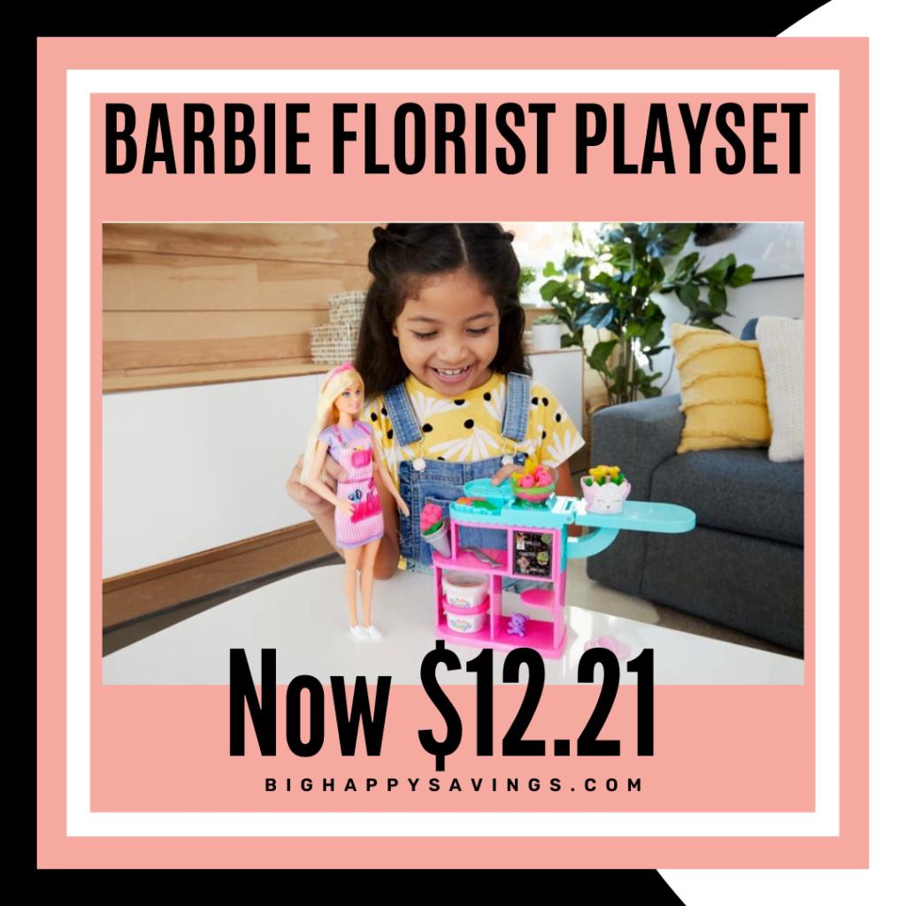 Big Happy Savings Barbie Florist Playset