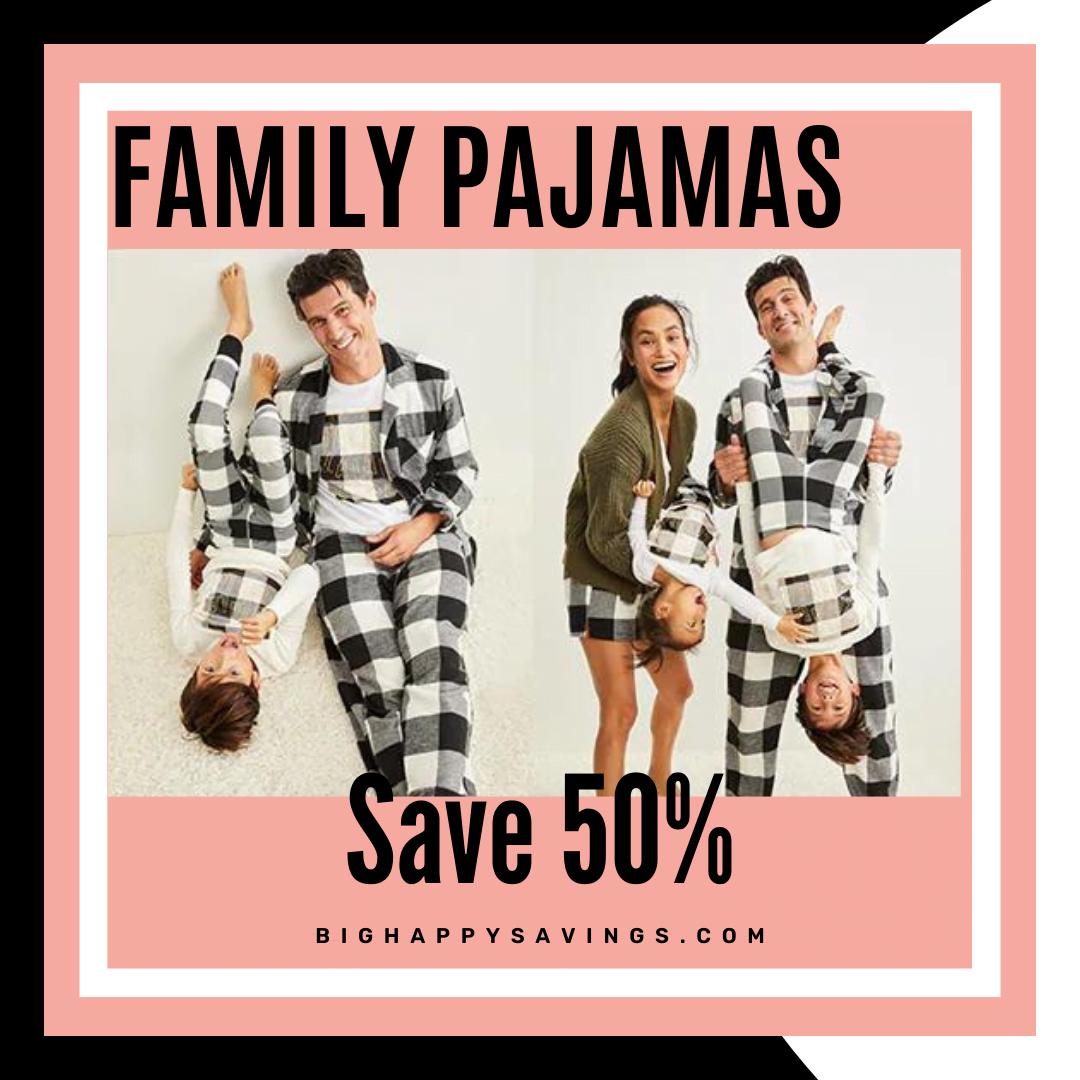 Big Happy Savings Old Navy Family PJs